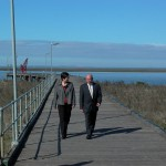 Penny Wong &amp; Paul Caica visit Milang June