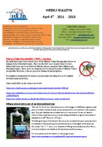 Lakes Hub Bulletin, No42