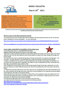 Lakes Hub Bulletin, No41