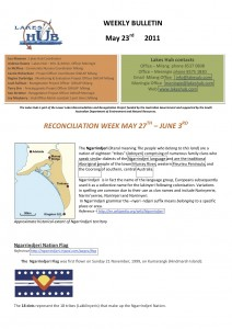 Lakes Hubs Bulletin No49 May 23rd 2011 - reconcilliation special