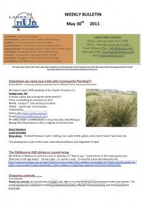 Lakes Hubs Bulletin No50 May 30th 2011