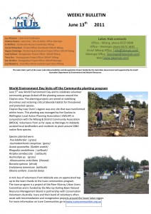 Lakes Hubs Bulletin No52 June 13th  2011