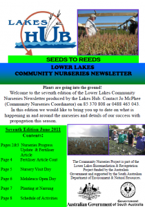 Community Nurseries Newsletter, June 2011