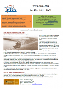 Lakes Hub Bulletin, No57