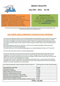 Lakes Hub Bulletin, No58