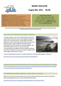 Lakes Hubs Bulletin No60 August 8th 2011
