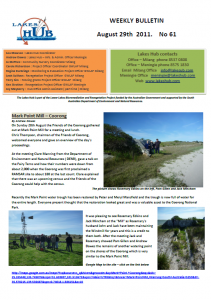 Lakes Hub Bulletin, No61