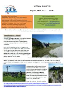 Lakes Hub Bulletin, No61