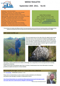 Lakes Hub Bulletin, No 65