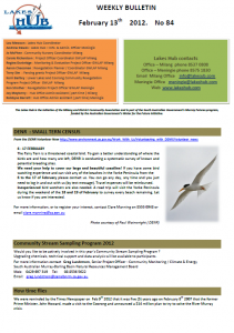 Lakes Hub Bulletin, No84