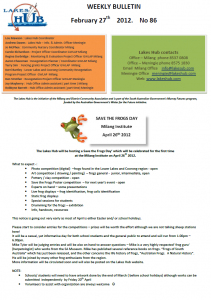 Lakes Hub Bulletin No86
