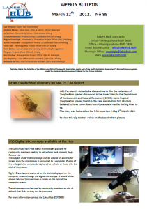 Lakes Hub Bulletin, No88