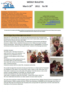 Lakes Hub Bulletin, No90