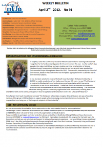 Lakes Hub Bulletin, No91