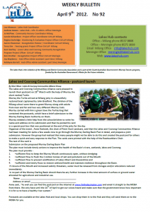 Lakes Hub Bulletin, No92