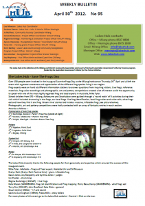 Lakes Hub Bulletin, No95