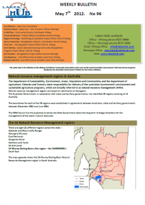Lakes Hub Bulletin, No96