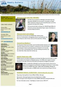 Lakes Hub Bulletin, No 104