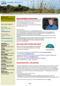 Lakes Hub Bulletin, No 109