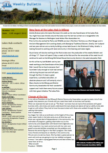 Lakes Hub Bulletin, No 110
