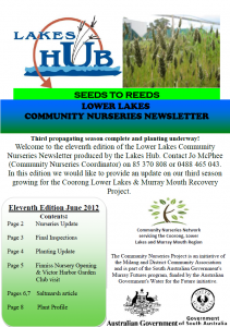 Nurseries Newsletter 11, June 2012