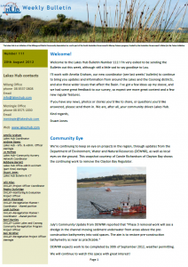 Lakes Hub Bulletin, No 111