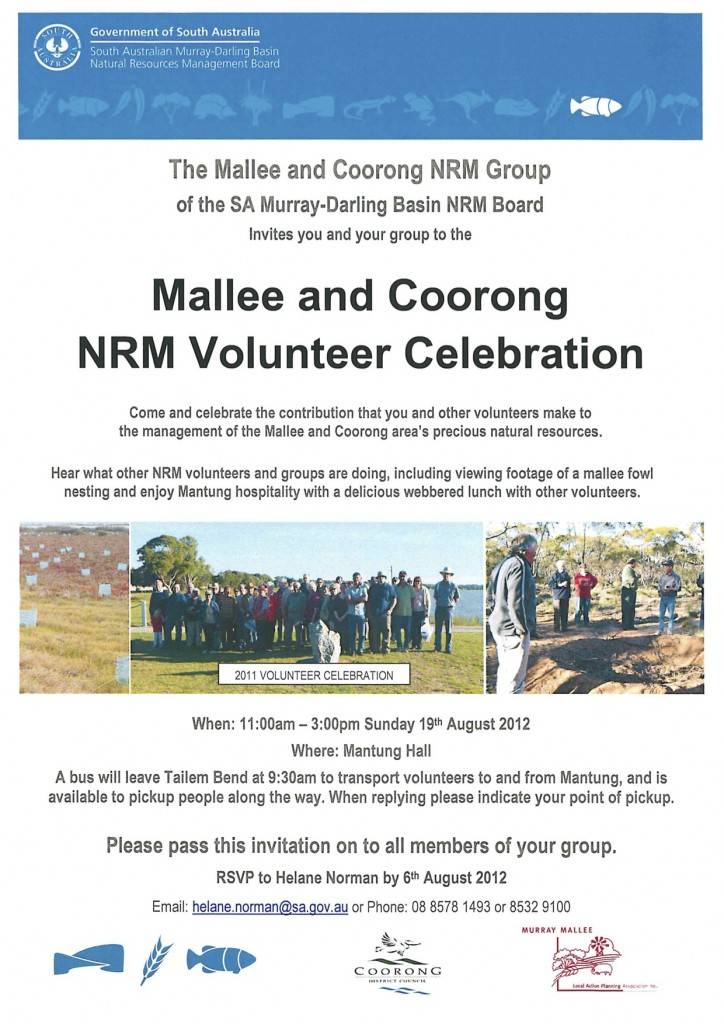 Mallee and Coorong NRM Volunteer Celebration