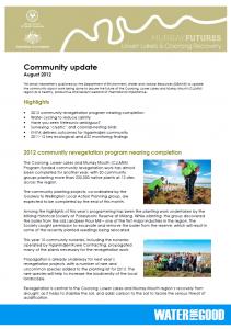 Community Update - Aug 2012