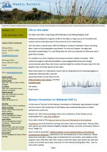 Lakes Hub Bulletin, No 115