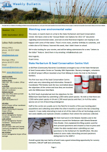 Lakes Hub Bulletin, No 116