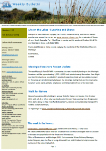 Lakes Hub Bulletin, No 117