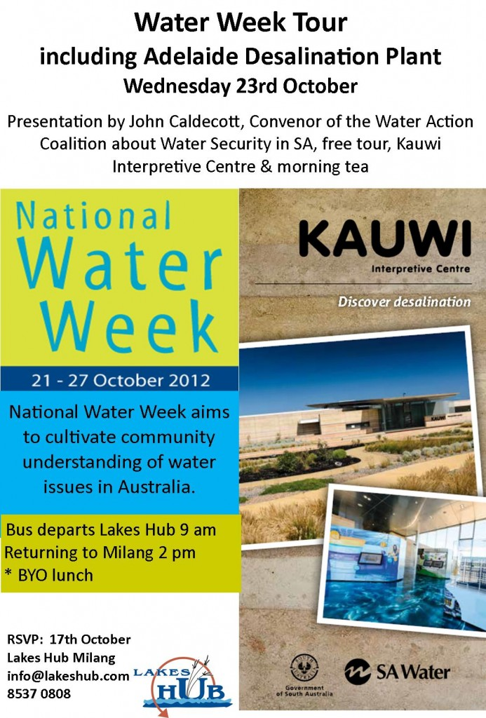 Desalination plant tour flier