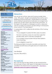 Lakes Hub Bulletin 188