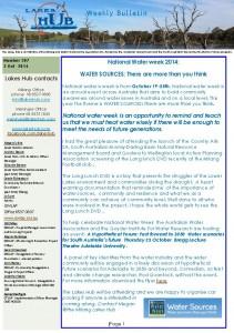 Lakes Hub Bulletin, 207